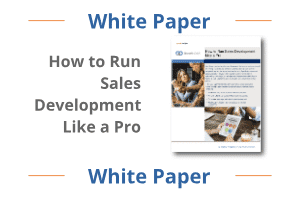 how to run sales development like a pro white paper